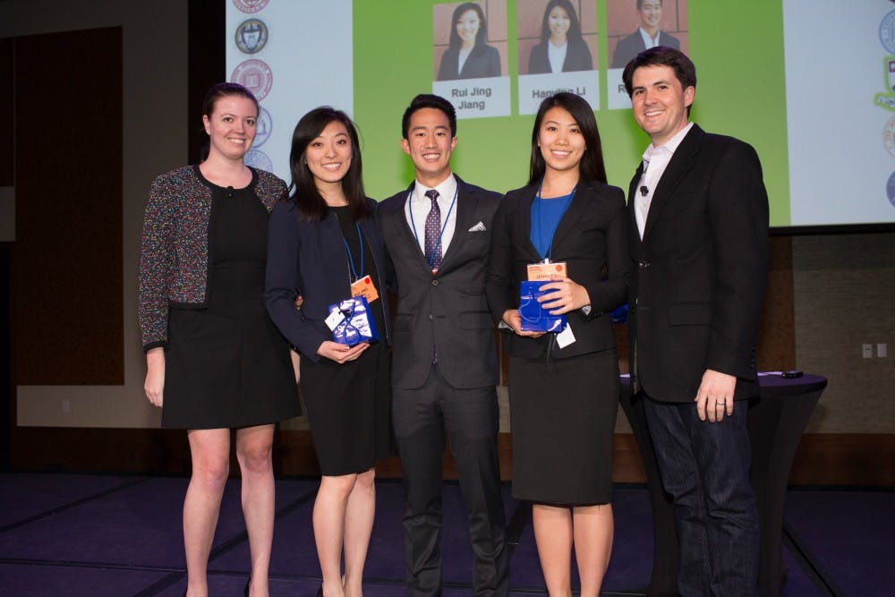 A group of Penn students won the 2016 Deloitte Consulting Undergraduate Case Study Competition and attribute their victory to realistic responsibilities, quantification and teamwork | Courtesy of the Deloitte National Undergraduate Case Competition