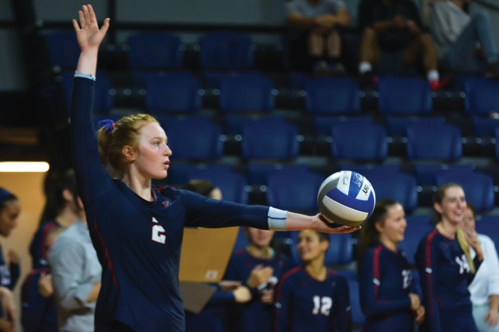 Freshman Caroline Furrer's double-double against Brown was one of the lone bright spots for Penn volleyball on Saturday as the Quakers were handed the second end of a weekend sweep in four sets on the road.