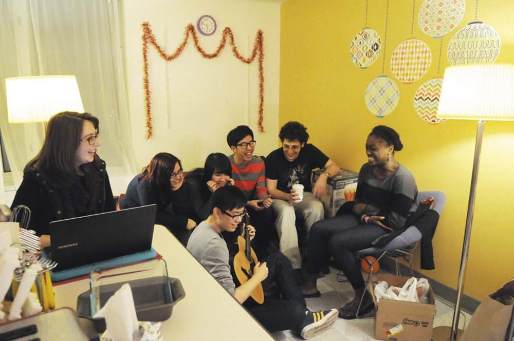 Photos of dorm rooms for the DP's Housing Guide Supplement