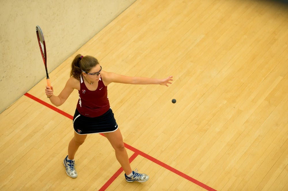 Junior Grace van Arkel clinched the match for Penn women's squash against Stanford on Sunday, sweeping her opponent from the ninth position before the Quakers ultimately ended up with the 9-0 rout.