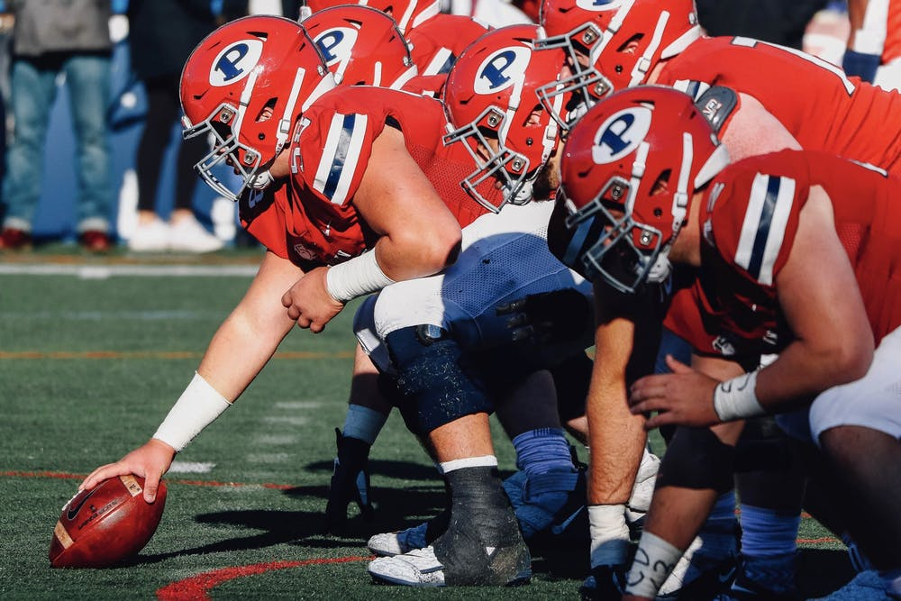 football-vs-cornell-offensive-line