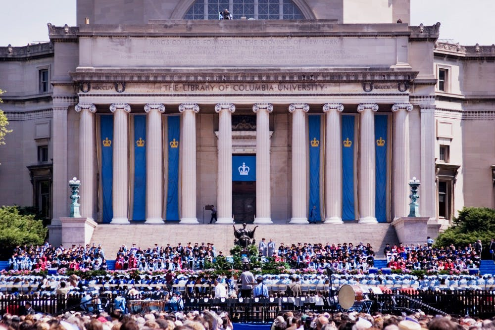 Columbia University graduation day. New York City 2005