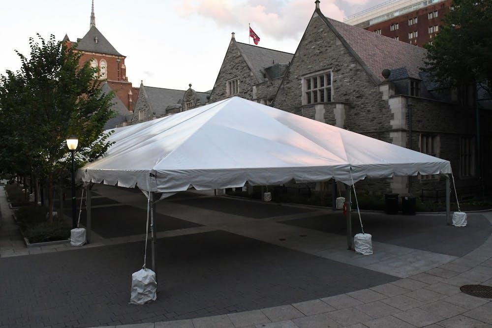 coronavirus-testing-houston-hall-tent