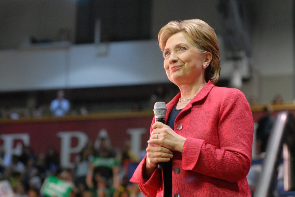 A morning DPolitics event will cover2016 presidential candidate Hillary Clinton, whospoke at the Palestra in 2008.