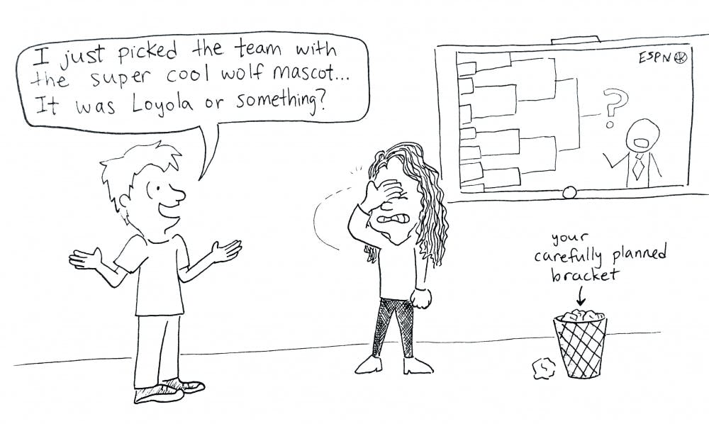 march madness cartoon