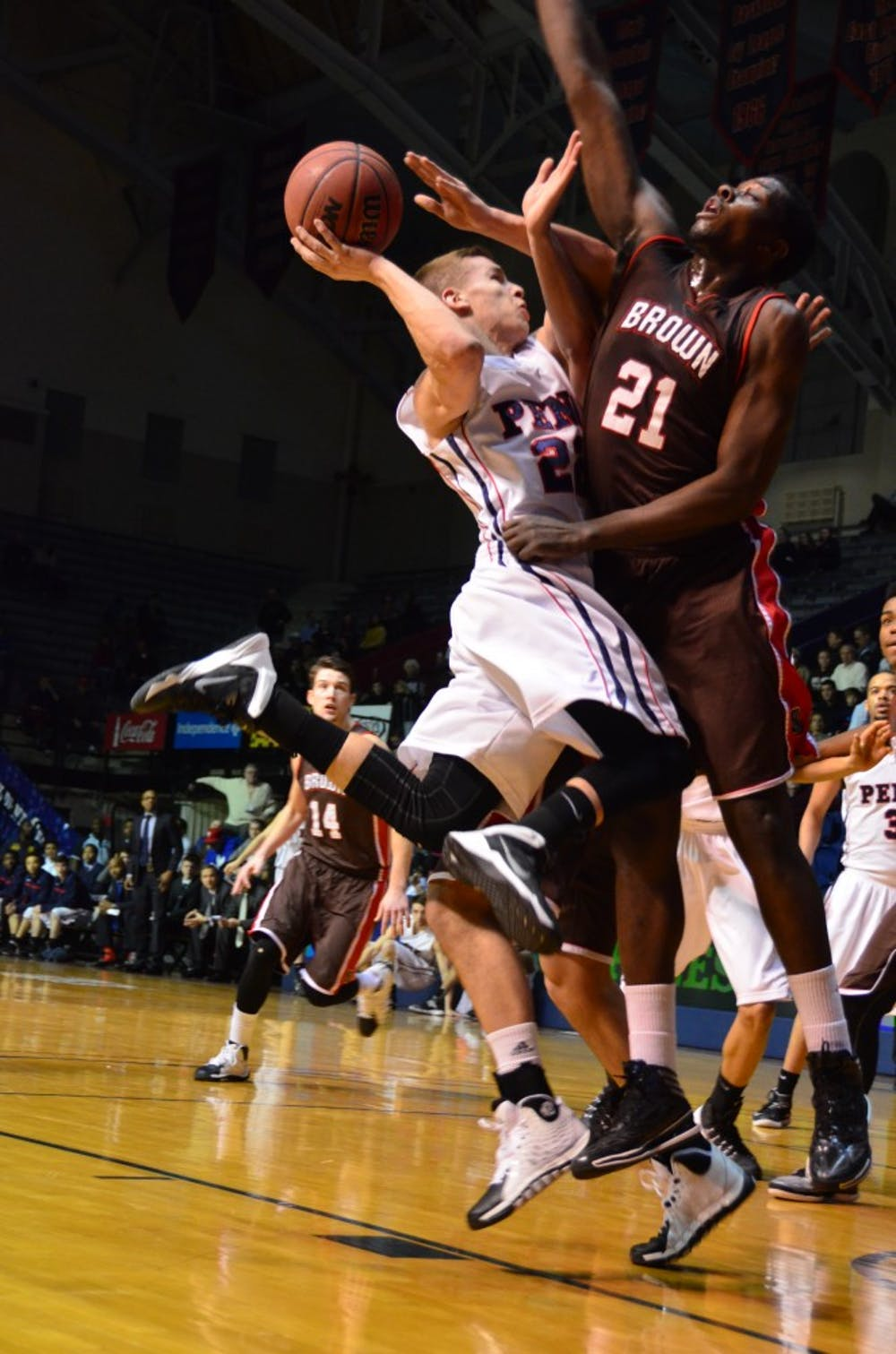 Men's Basketball plays Brown at the Palestra.