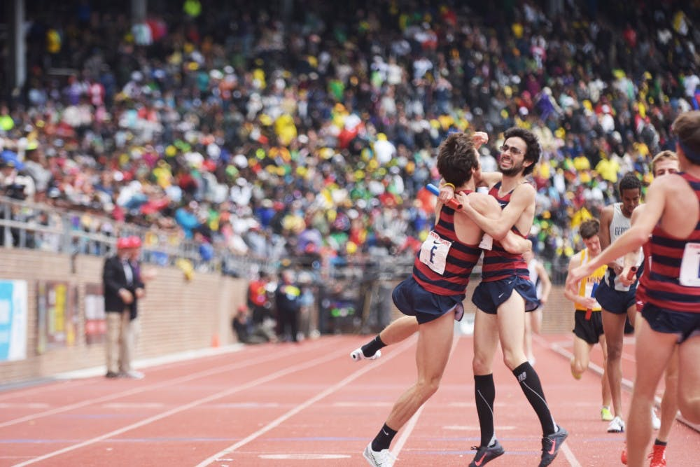 With a4:00.3 anchor leg, senior Thomas Awad secured the first victory for Penn track at the Penn Relays since 1974 — and the first win in the4xMile since 1950.