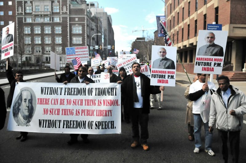 Free Speech Protest at WIEF Conference