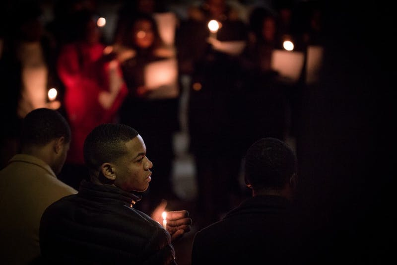 MLK Day of Service concludes with a candlelight vigil