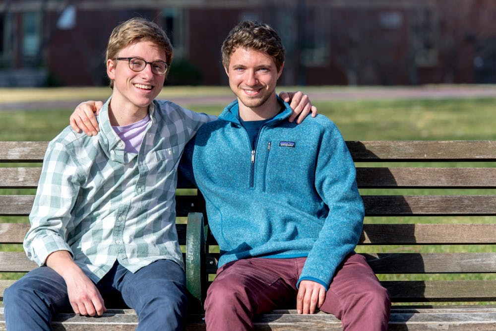 Like many siblings at Penn, College freshman Eric and College junior Evan Selzer support each other academically and extracurricularly.