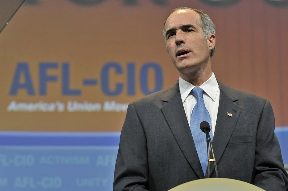Topics covered in Sen. Casey's town hall included the Affordable Care Act, Planned Parenthood funding, protection of LGBTQ individuals and President Trump's connections to Russia.