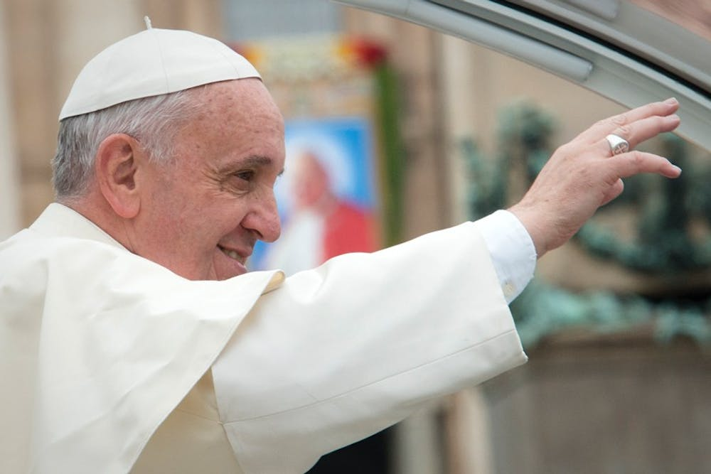 Pope Francis' visit to Philadelphia has students across University City anticipating his arrival. He is scheduled to arrive Sept. 26.Courtesy of Creative Commons.