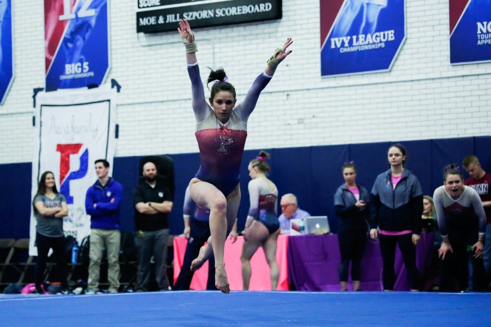 Penn Gymnastics Takes Step Back With Third Place Finish At Penn