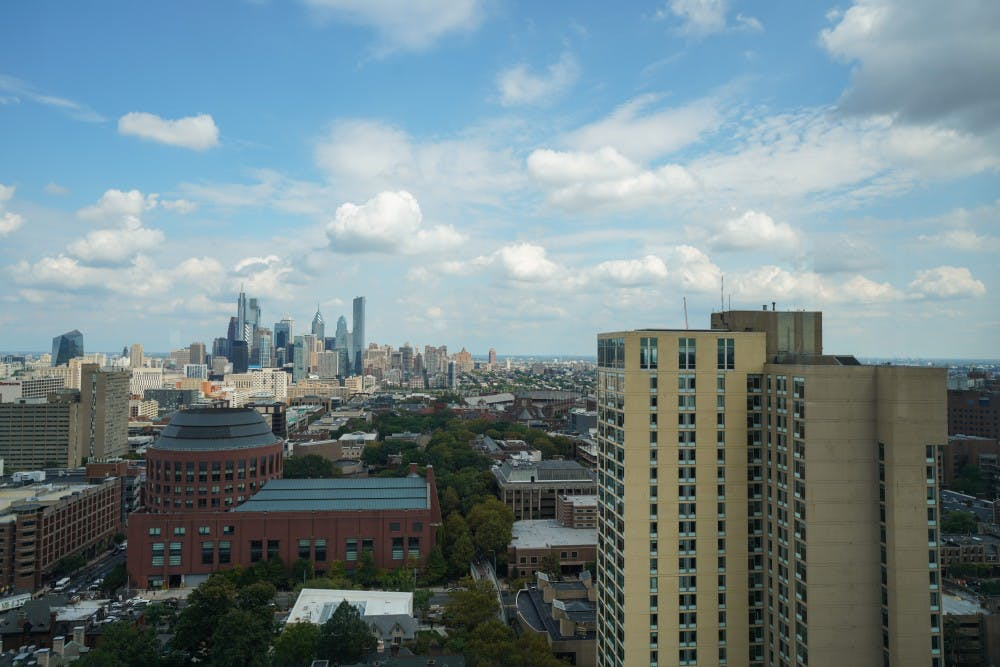 philadelphia-skyline-center-city-hunstman-harnwell-rodin-rooftop-lounge