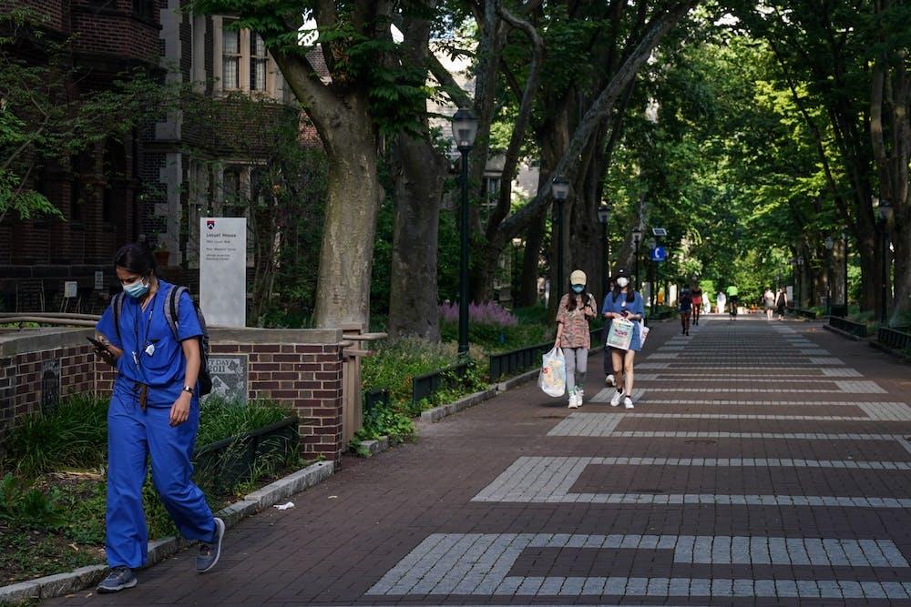 locust-walk-campus-masks-covid-19-coronavirus