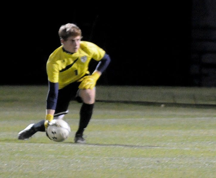 Junior goalkeeper Max Polkinhorne held off a surge from Brown with six key saves in the second half, registering eight in total for the game.