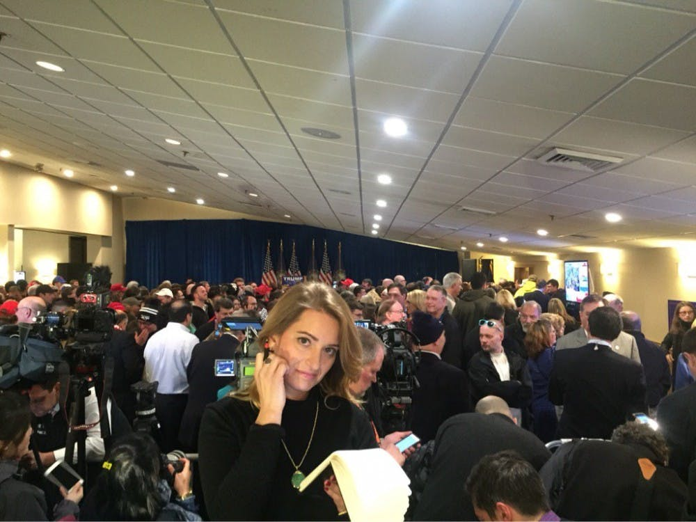 Live from Donald Trump's Primary Rally in Manchester, New Hampshire, where supporters wait for the real state mogul to deliver his victory speech. (Luis Ferre Sadurni | Politics Beat Reporter)