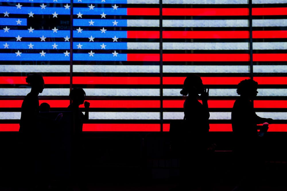 american-flag-silhouette-new-york-city-nyc-times-square