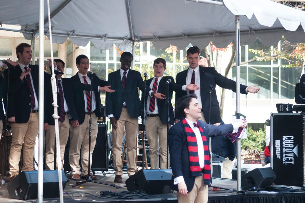 The Penn Glee Club performed this weekend for alumni.