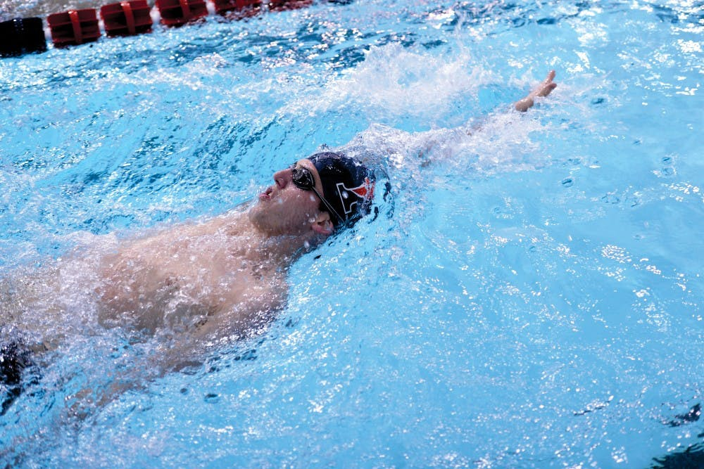 Freshman Mark Andrew is off to a good start for the Red and Blue - he broke a Sheerr Pool record in his first collegiate meet - but he and his coach both believe the best is yet to come.