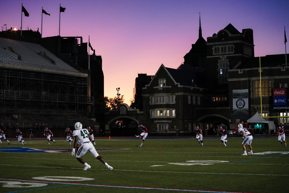 football-vs-dartmouth-kickoff-franklin-field-purple-sky