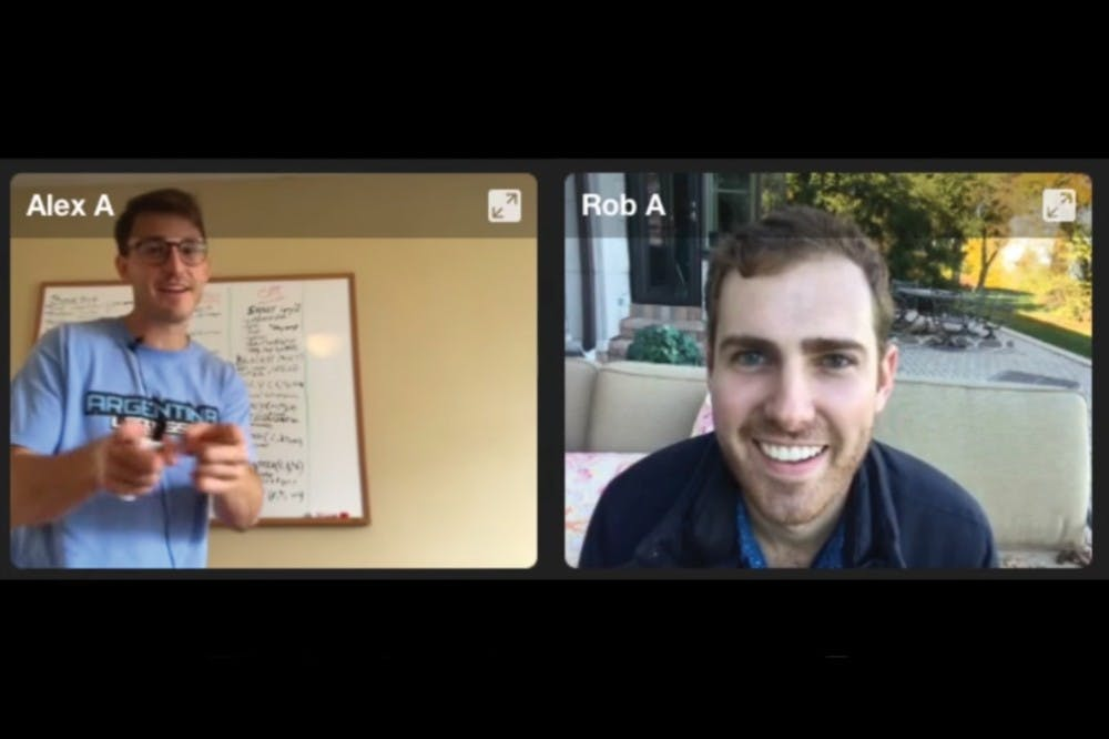 Alex Weber and Rob Mor broke the world record for longest video chat after two weeks of continuous streaming. | Courtesy of the 'No HangUps' Youtube channel.