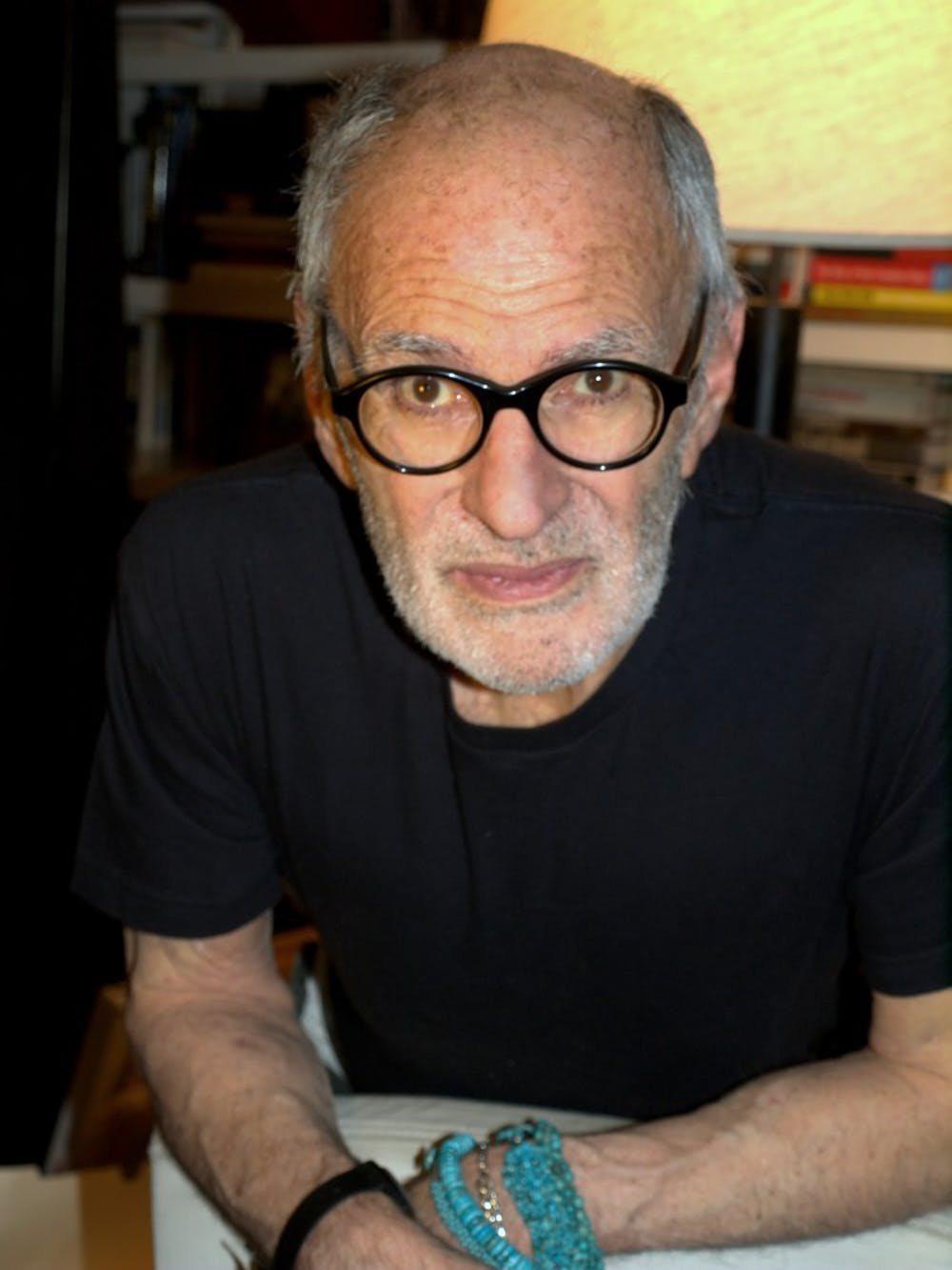 <p>Activist, Oscar-nominated screenwriter, and author <strong>Larry Kramer</strong> spoke at the Hall of Flags on Thursday at an event hosted by QPenn. </p>