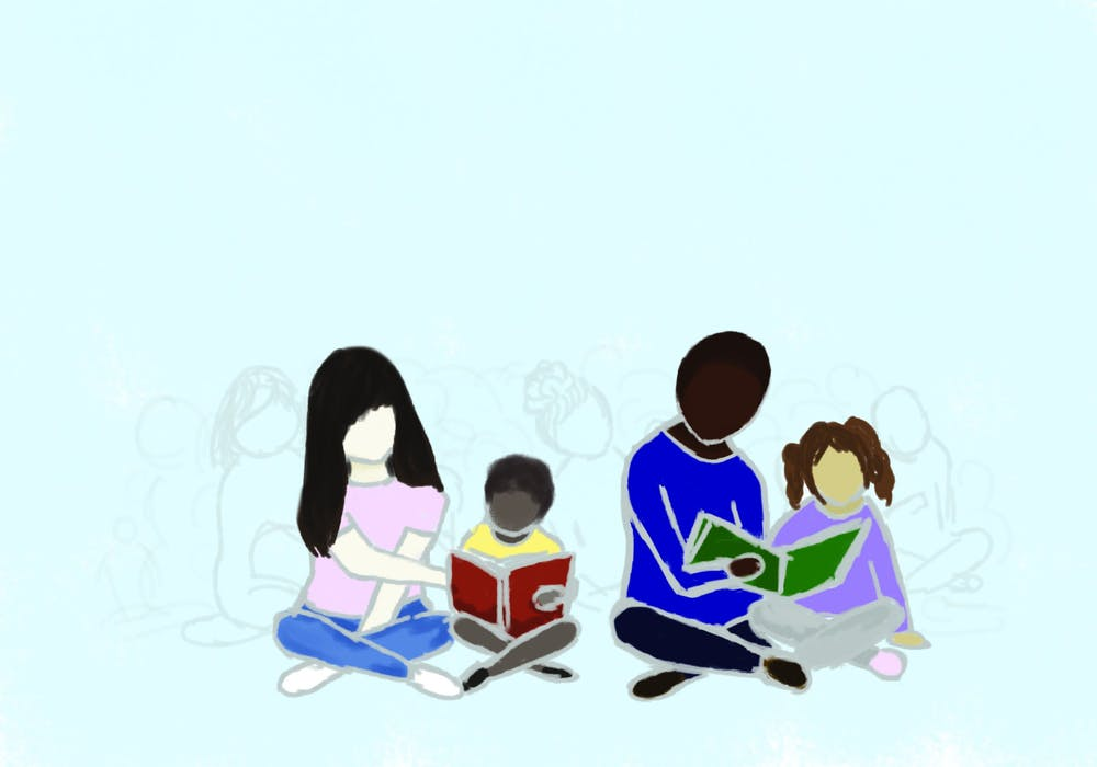 reading-books-tutoring-children-illustration