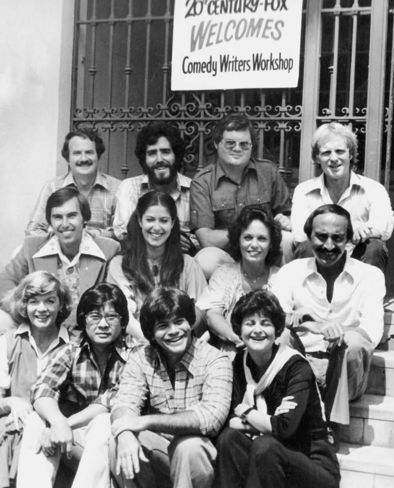 Second row, first from left Stephen MacCarthy is seen here with other winners of the writing contest that was sponsored by FOX in 1978.