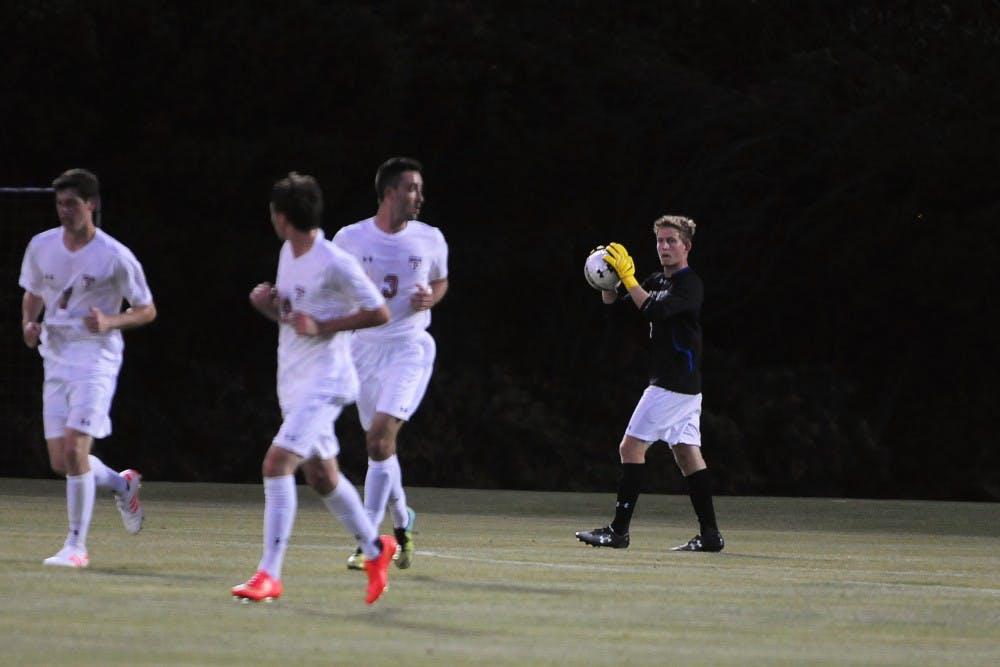 Men's Soccer vs. Drexel.  Men's soccer wins 2 - 0 home at Rhodes Field