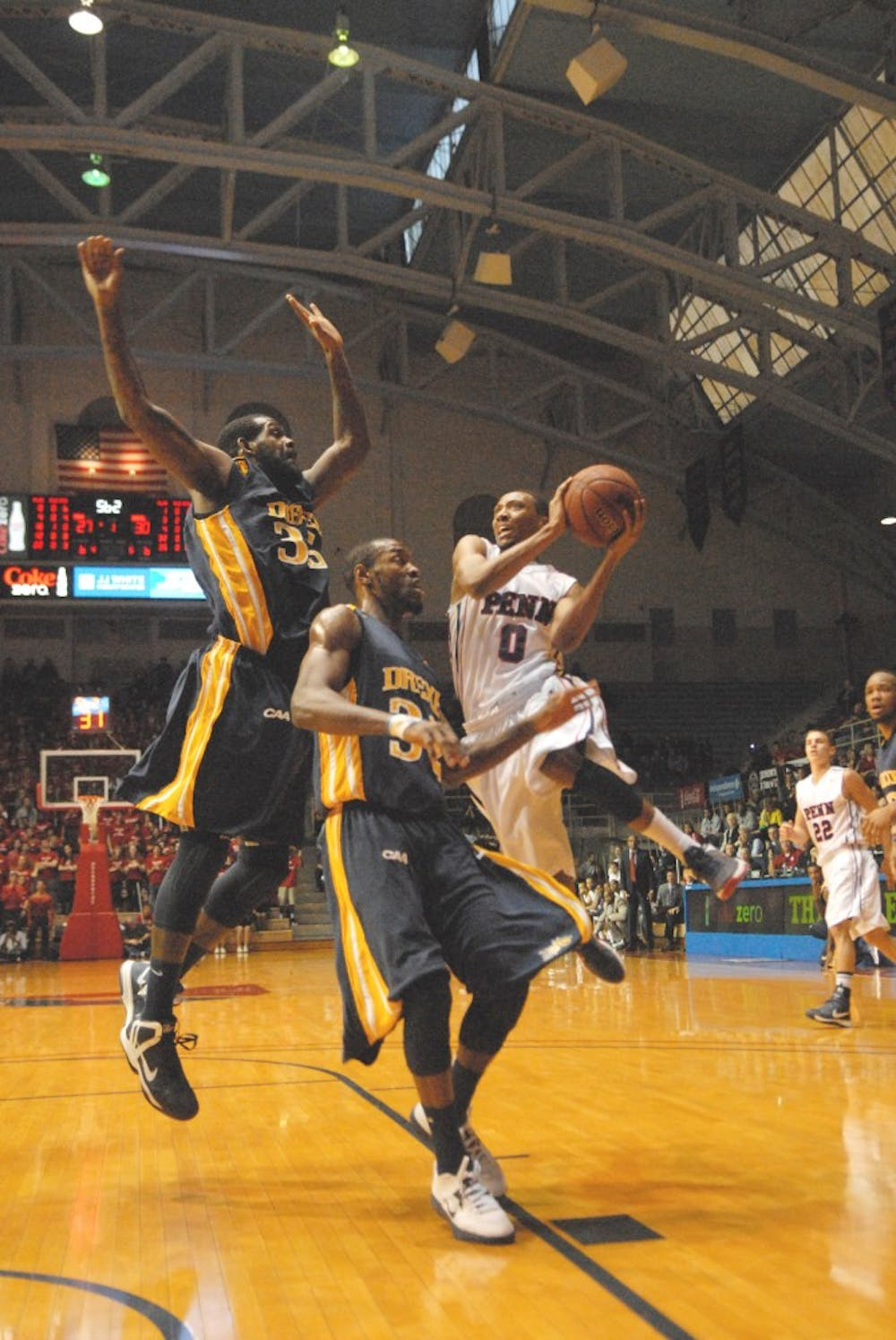Men's Basketball vs. Drexel. Penn lost 59-61