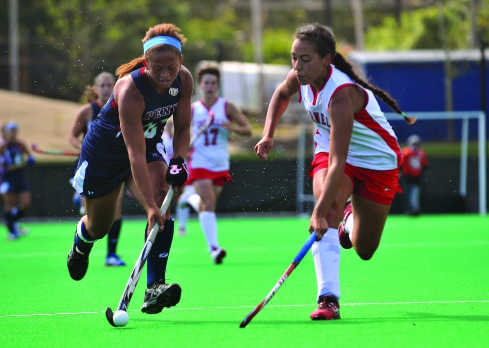 Freshman attack Jasmine Cole leads the Quakers with eight goals this season, three of which came during Saturday's game against Cornell. Penn pushed aside the Big Red, 4-3, in the inaugural game at Ellen Vagelos field.