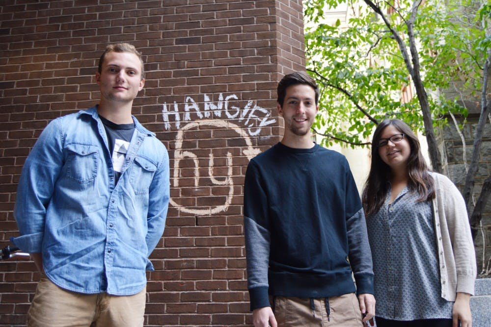 (Left to right) Ethan Dombroski, Merv Arnold-Lyons and Sierra Hirt are some of the people who currently run the popular campus app Hangify.