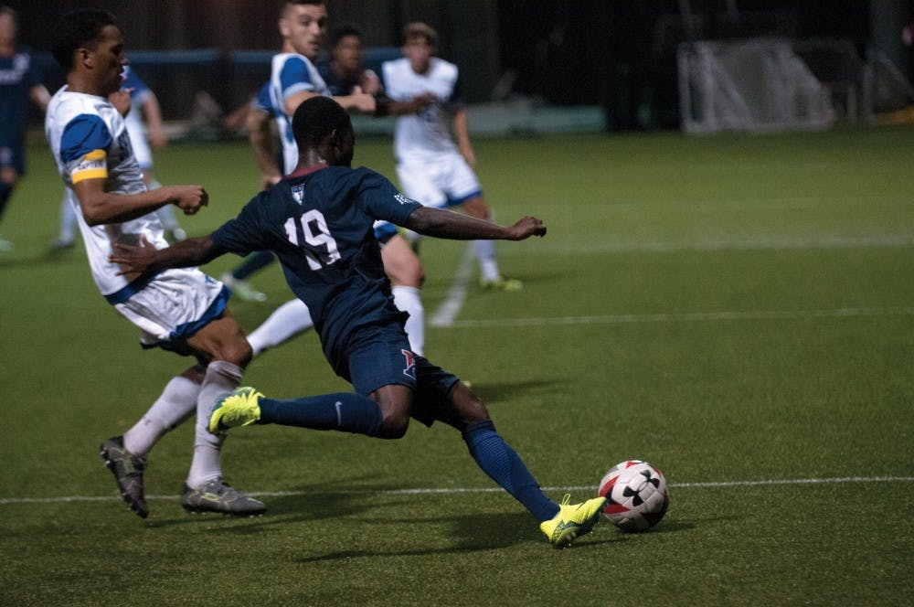 Freshman forward Dami Omitaomu was one of several Quakers to catch the eye over the weekend, winning a penalty against American on Friday night and impressing once more against Seton Hall on Monday.