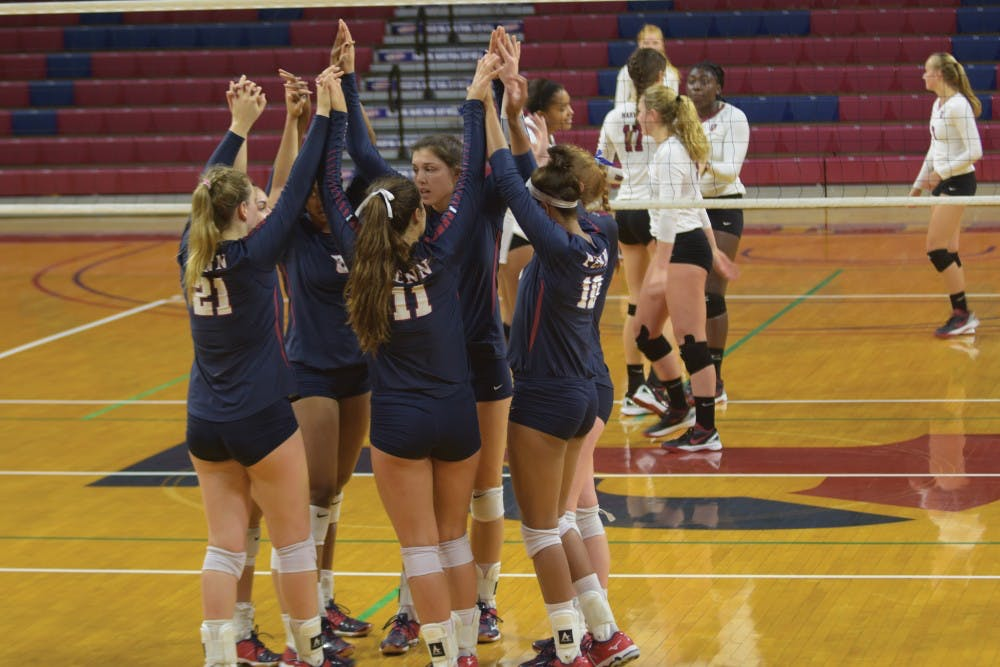 The Quaker Volleyball team swept their first full Ivy weekend with a win over Harvard on Saturday. Harvard took the second set, but Penn won in four.