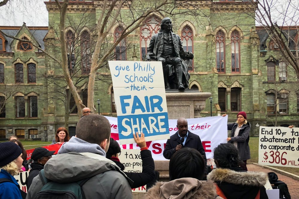 philly-protest-funding-pilots-ben-franklin-college-hall