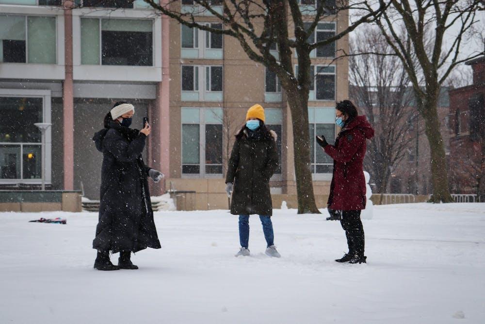 02-01-21-snow-orlena-students-social-distancing-covid-masks