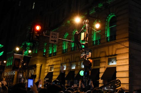 Philadelphians take to the streets to celebrate the Eagles' Super Bowl victory