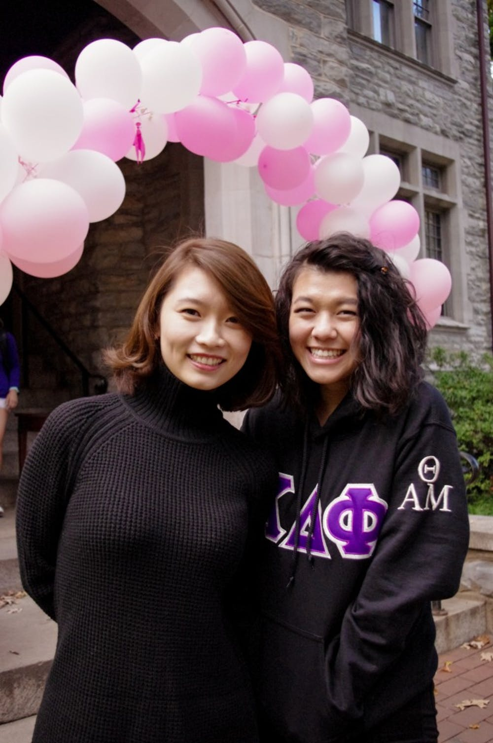 <p>Members of Penn's aKDPhi their 14th Annual Breast Cancer Awareness Coffeehouse this past Friday.</p>