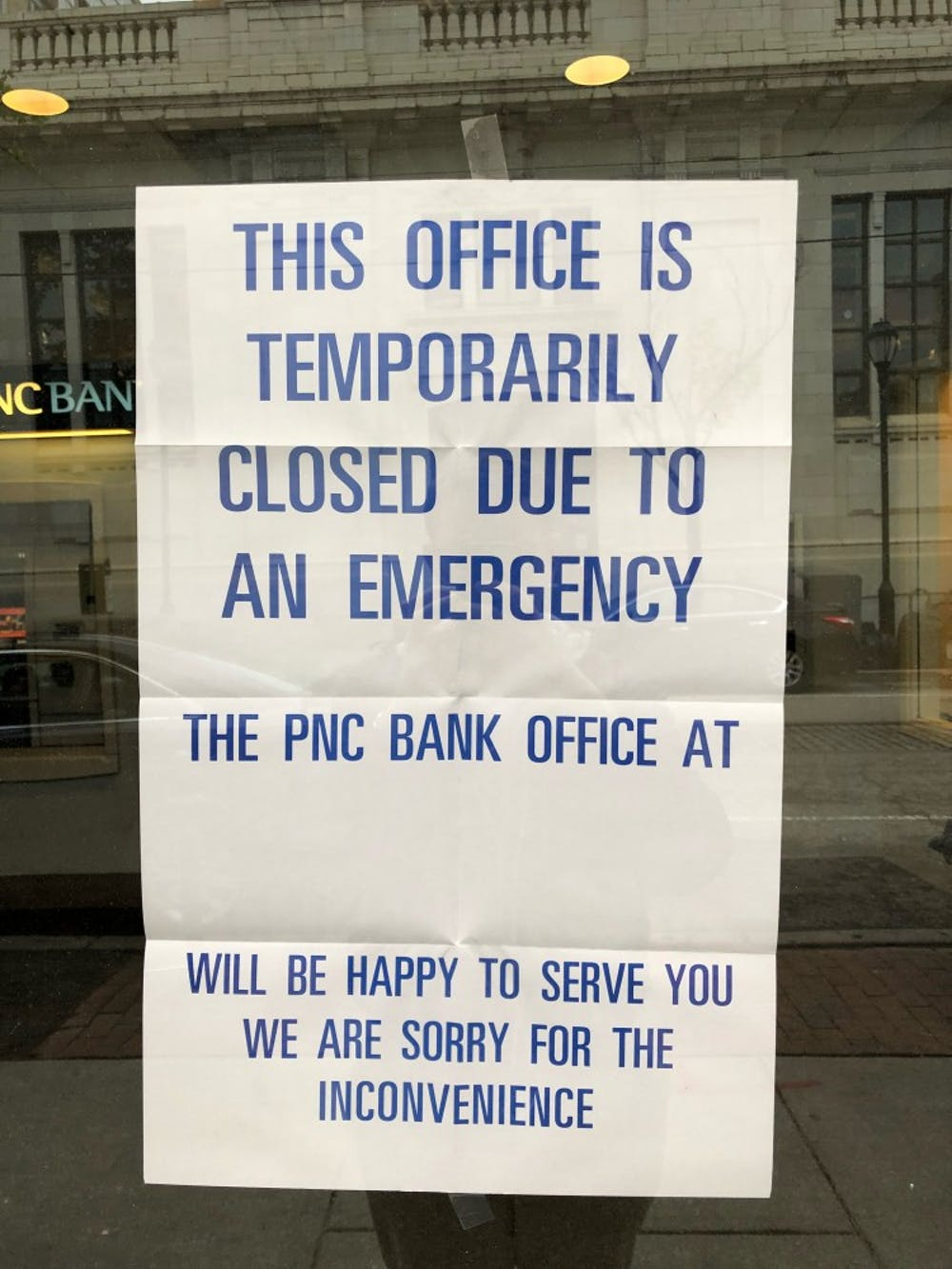 A robbery at PNC Bank on 40th Street prompts UPenn Alert