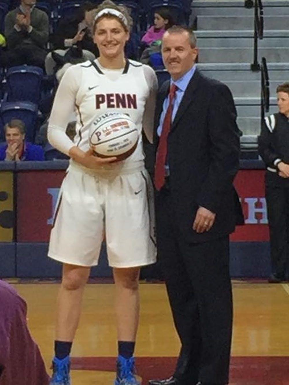 Senior Kara Bonenberger was honored beforeFriday'sgame for her 1,000-point career.