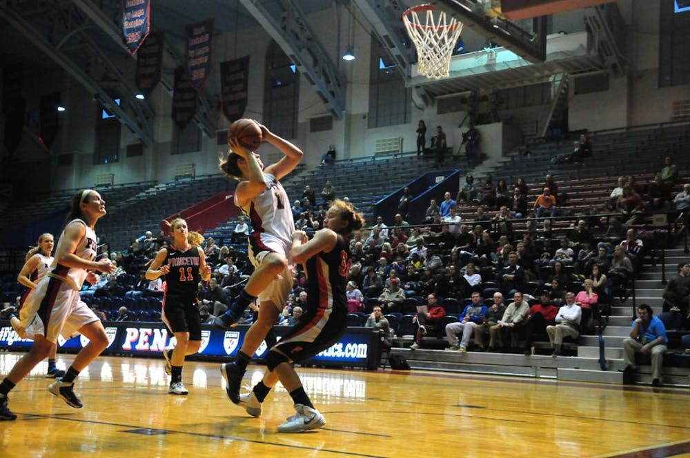 In what could have been an historic victory for the Penn women's basketball team against Villanova, senior Alyssa Baron led the Quakers with 16 points. Despite a near-double double, Baron missed all seven of her three-point attempts, and missed a runner with under ten seconds left that could have won the game for Penn.