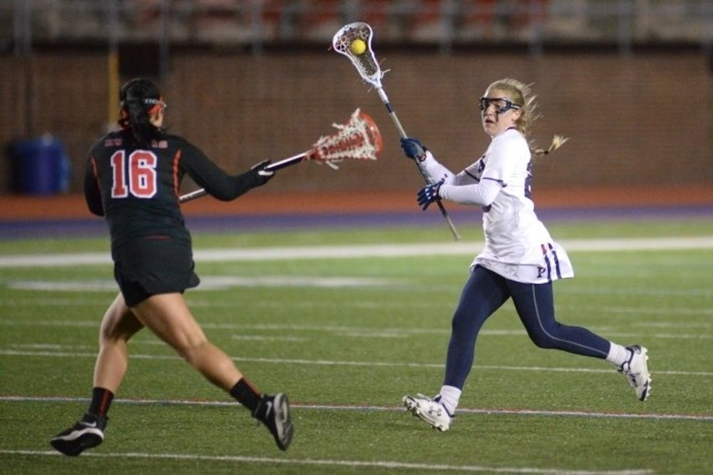 With Penn women's lacrosse needing to win to stay in Ivy title contention, senior Emily Rogers-Healion certainly did her part, with five goals and one assist in a 17-7 trouncing of Columbia.