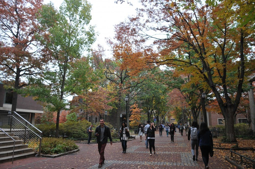 Fall has descended full-on on Penn's campus, bringing uncharacteristically warm weather this week.