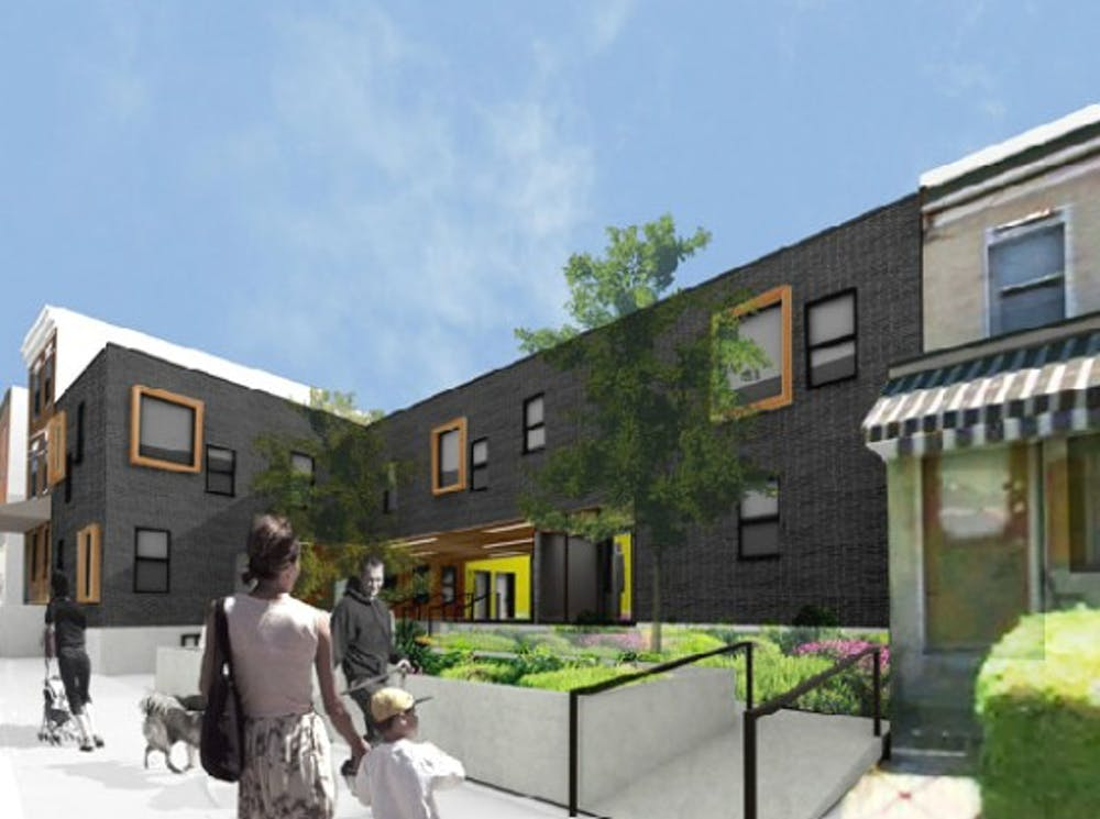 The residences being built by the People's Emergency Center at 42nd Street and Powelton Avenue will offer residents access to affordable childcare and counseling