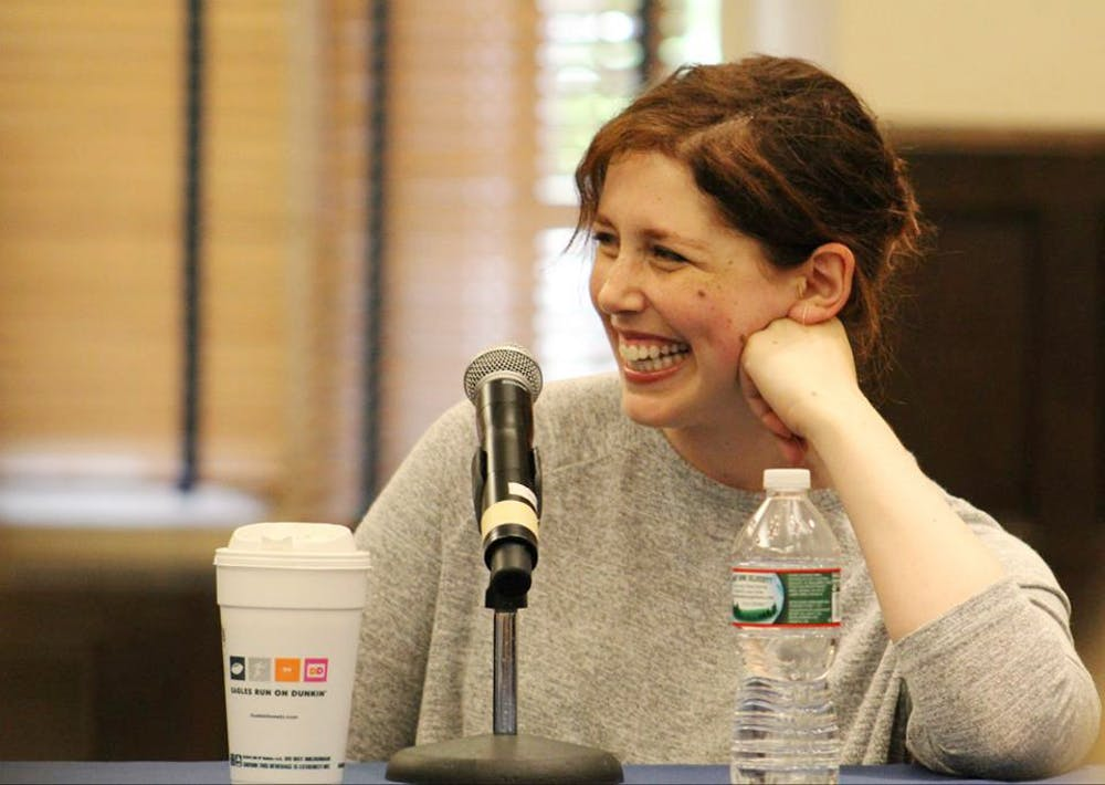 Penn alumnus and SNL cast member Vanessa Bayer spoke at a panel earlier on Saturday before her appearance at LaughtHERfest, Penn's first-ever women in comedy event. | Courtesy of Julia Pan