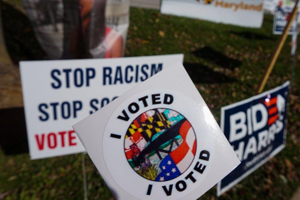 voted-stand-up-against-racism-maryland-biden-harris-sign-nov-2020