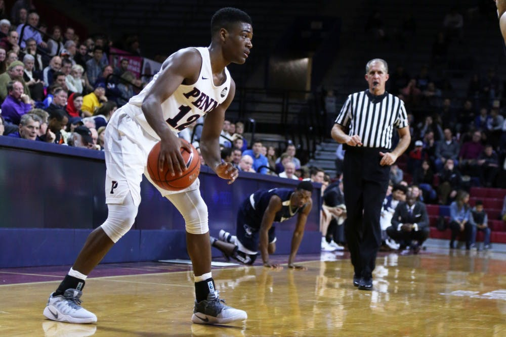 Freshman guard Devon Goodman and the rest of the Penn men's basketball team has come out angry after their 0-6 Ivy start, leading to four straight wins.