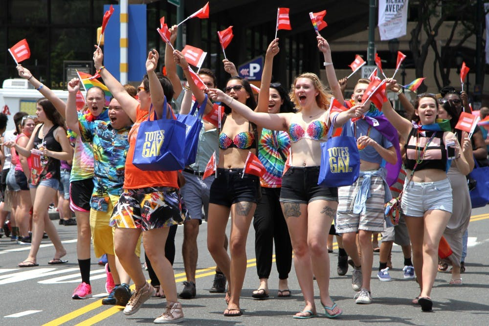 The Philly Pride Parade is hosted every summer just outside Penn's campus in Center City.