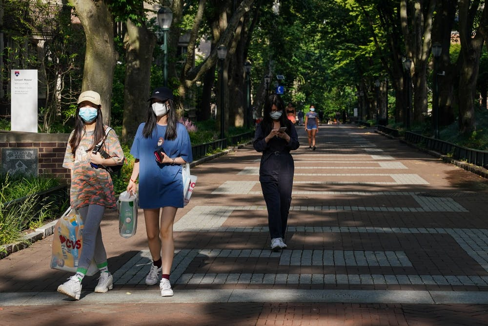 penn-campus-locust-walk-coronavirus-covid-19-masks